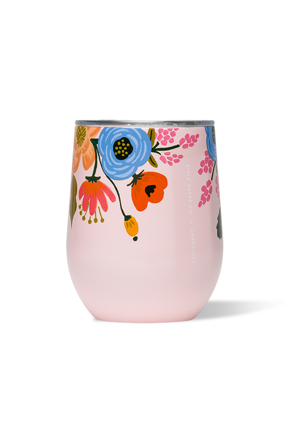 *Rifle Paper* Modern Corkcicle Stemless Wine Tumbler - Gloss Blush