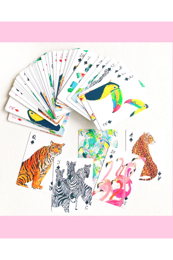 Whimsy Carn Playing Cards - Safari