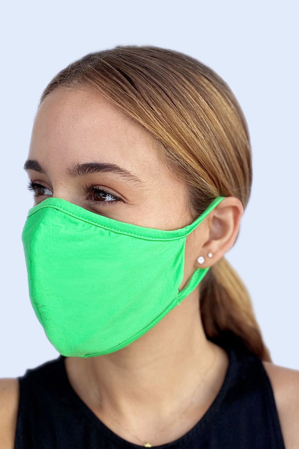 Reversible Face Mask - Solid Kiwi