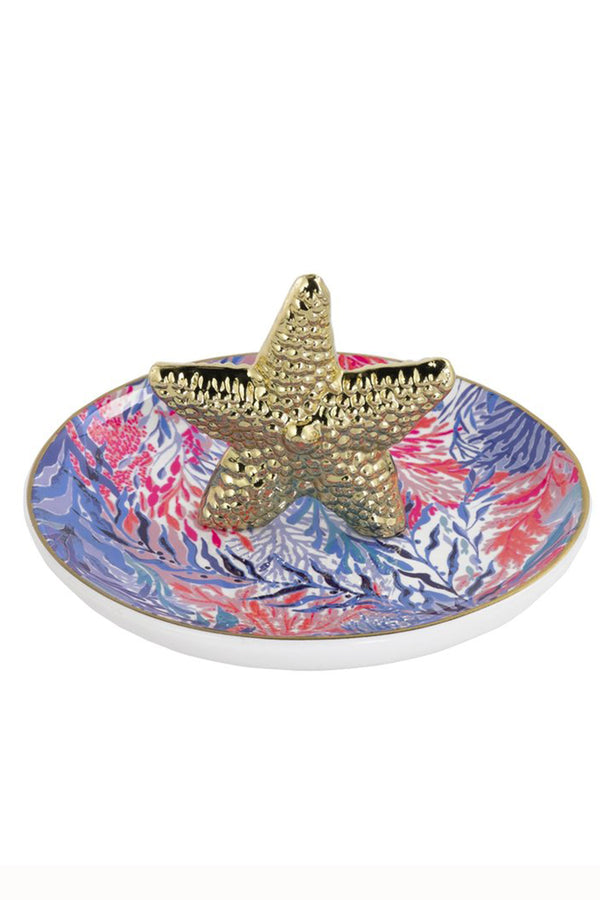 Lilly Ring Holder - Kaleidoscope Coral