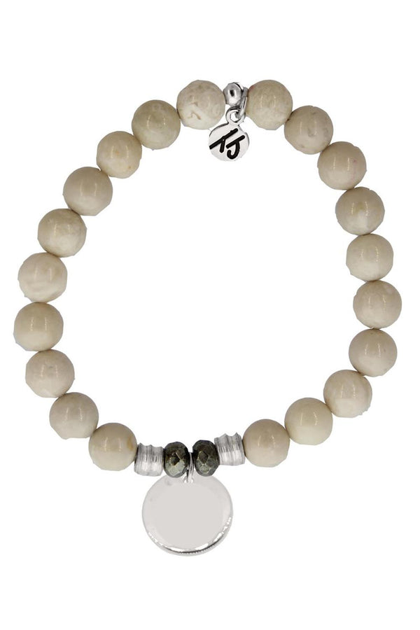 TJ Beaded Bracelet Exclusive - Riverstone Stone