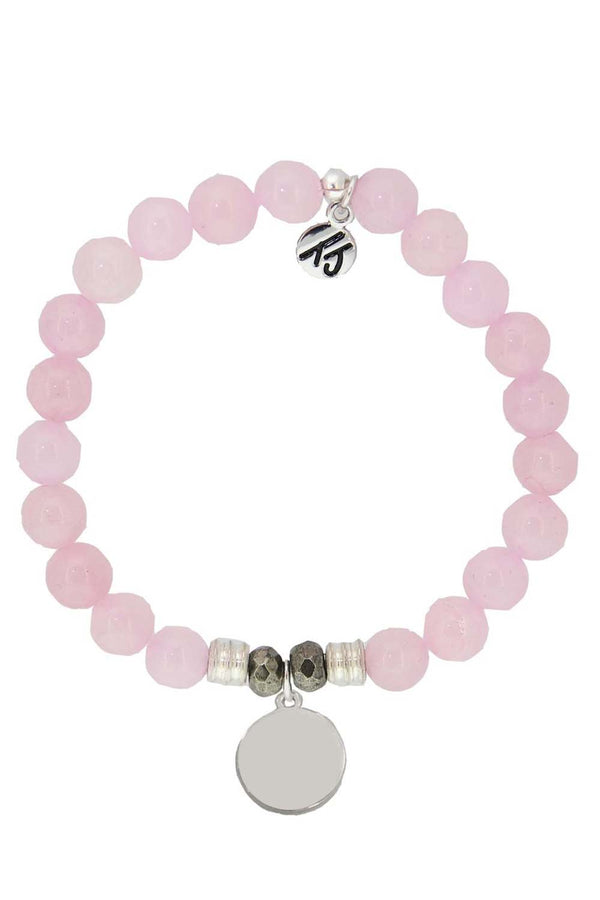 TJ Beaded Bracelet Exclusive - Rose Quartz Stone