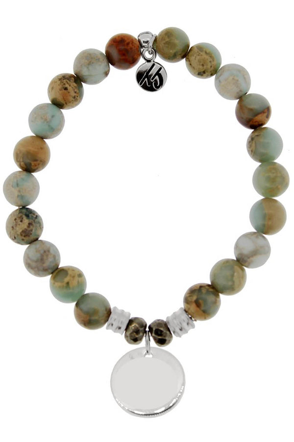 TJ Beaded Bracelet Exclusive - Serpentine Stone