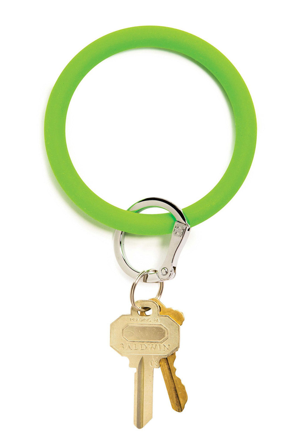The BIG O Key Ring *Silicone* - In the Grass Green