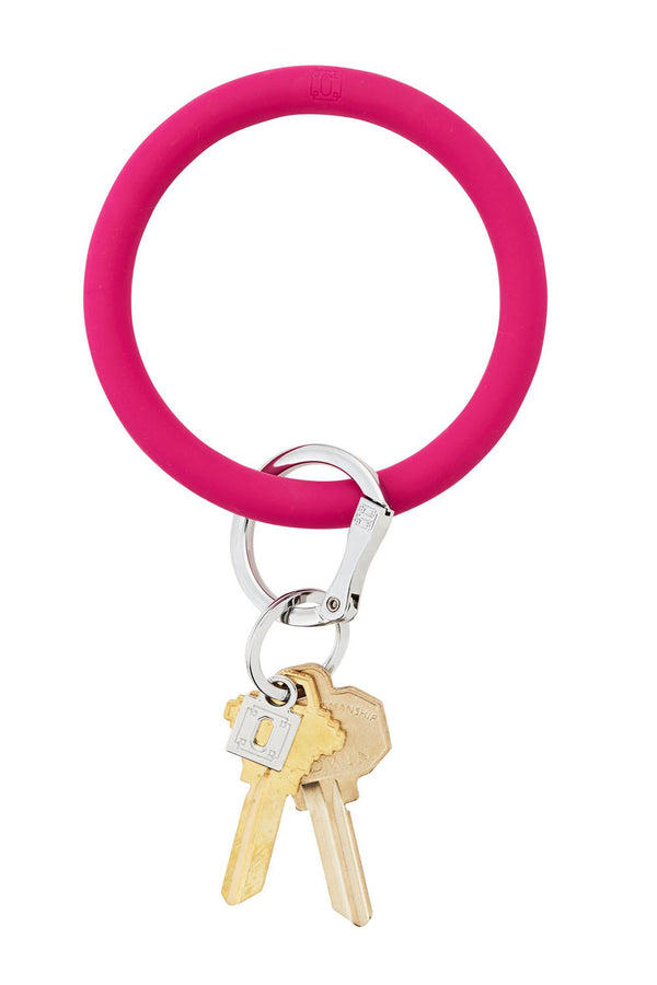The BIG O Key Ring *Silicone* - I Scream Pink