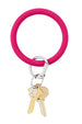 Silicone Big O Key Ring - Solid I Scream Pink