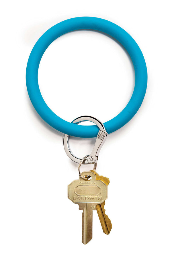The BIG O Key Ring *Silicone* - Peacock Blue