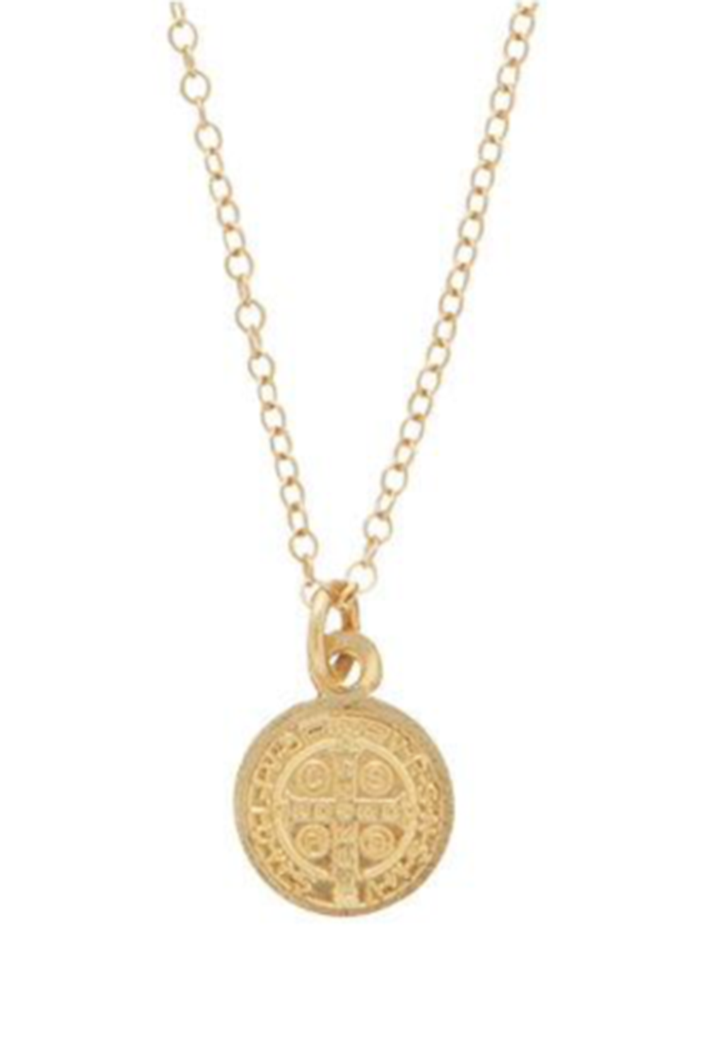 EN Small Blessing Charm Necklace - Gold