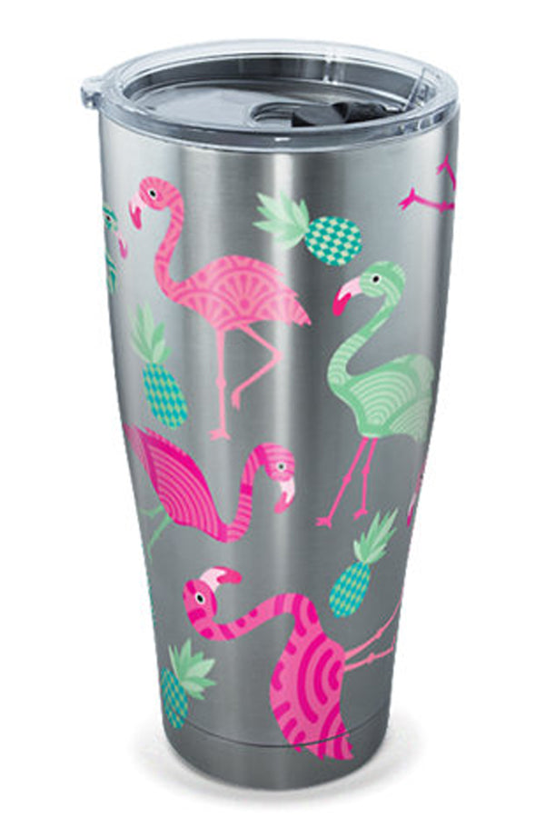 Stainless Steel Wrap Tumbler - Flamingo Pattern
