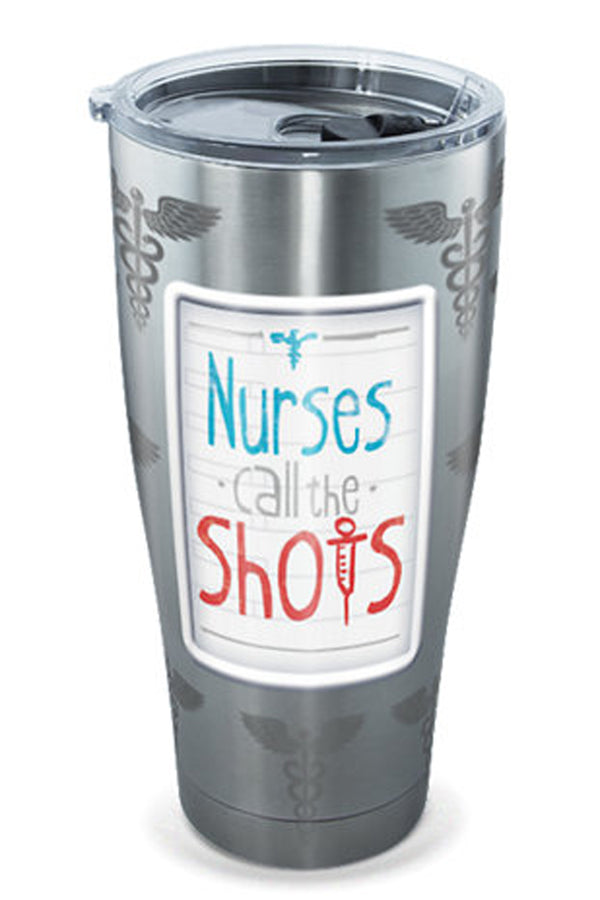 Stainless Steel Wrap Tumbler - Nurses Call The Shots