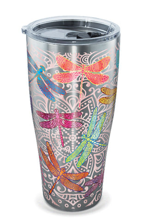 Stainless Steel Wrap Tumbler - Dragonflies