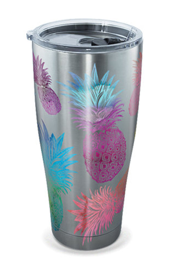 Stainless Steel Wrap Tumbler - Watercolor Pineapples