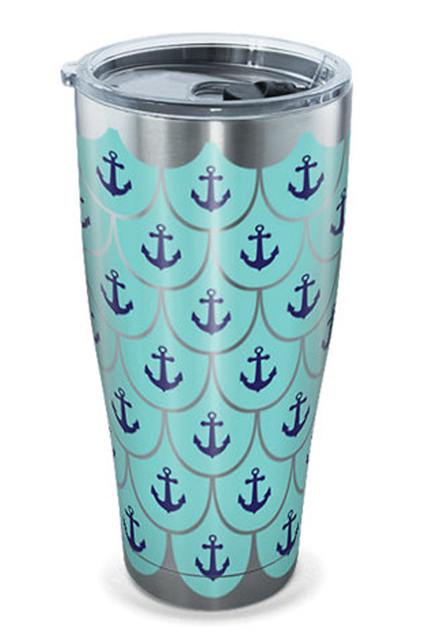 Stainless Steel Wrap Tumbler - Anchor Scallop