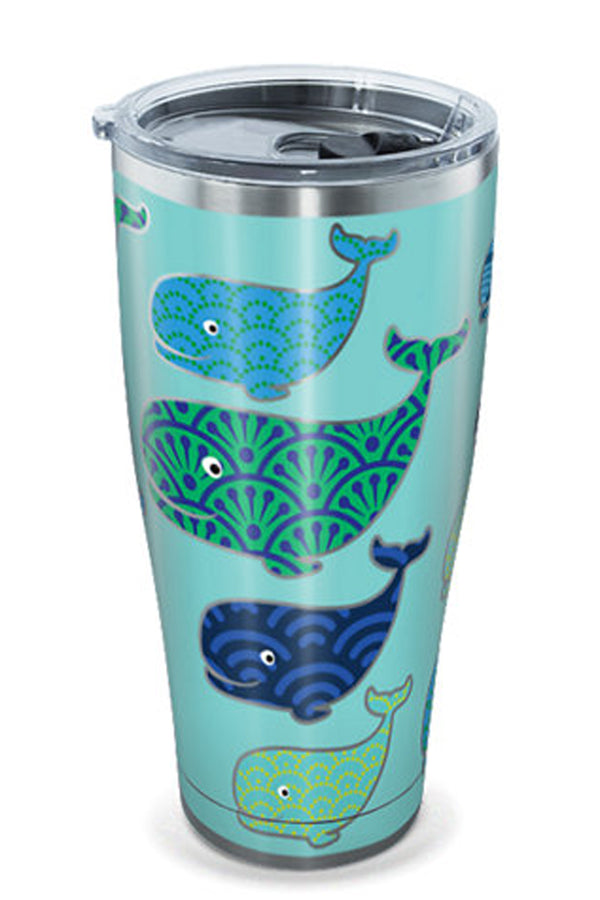 Stainless Steel Wrap Tumbler - Whale Pattern