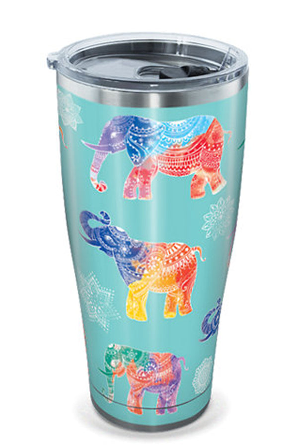 Stainless Steel Wrap Tumbler - Mendhi Elephants