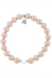 TJ Beaded Bracelet - Pink Pearl Stacker