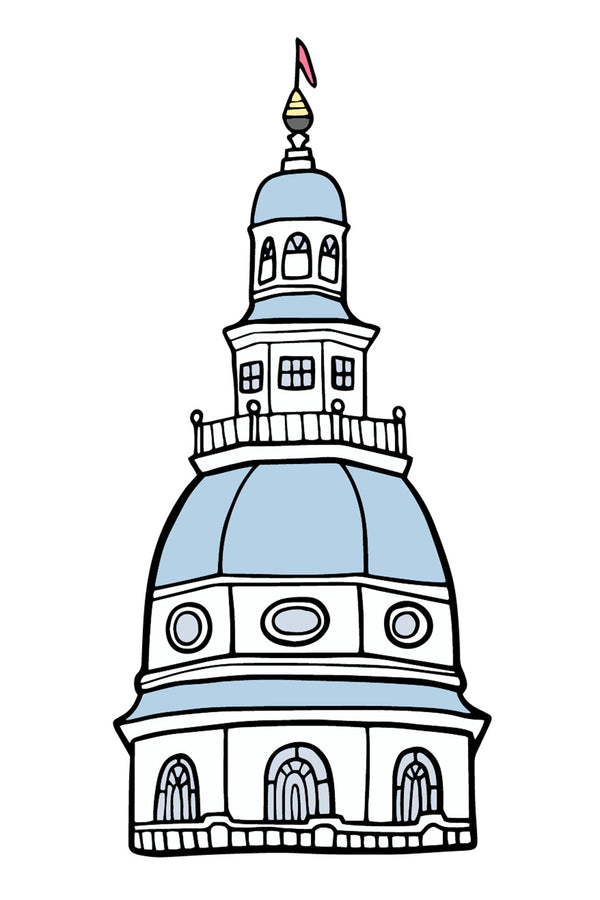 Trendy Sticker - Maryland State House