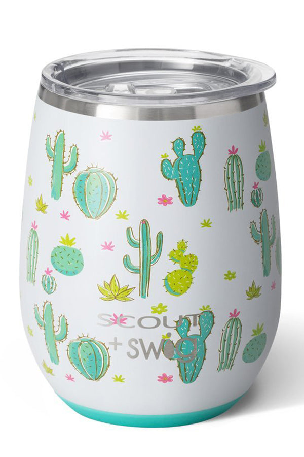 Modern Stemless Wine Tumbler SCOUT - Cactus Makes Perfect