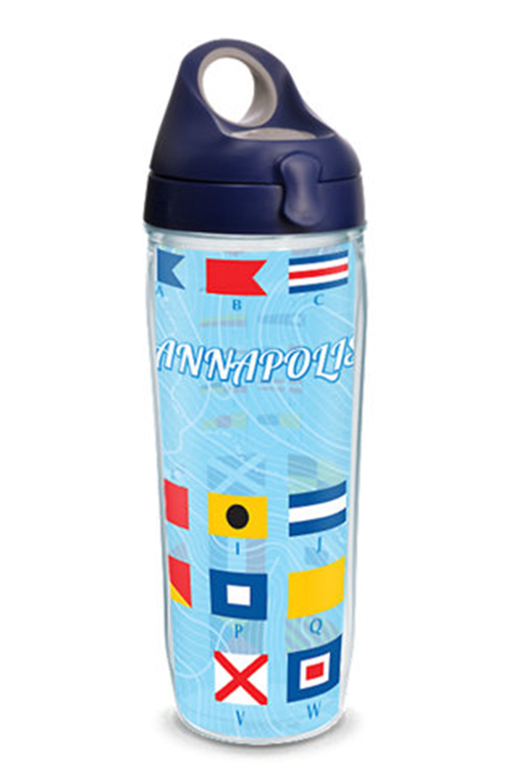 Wrapped Water Bottle - Nautical Flags Annapolis