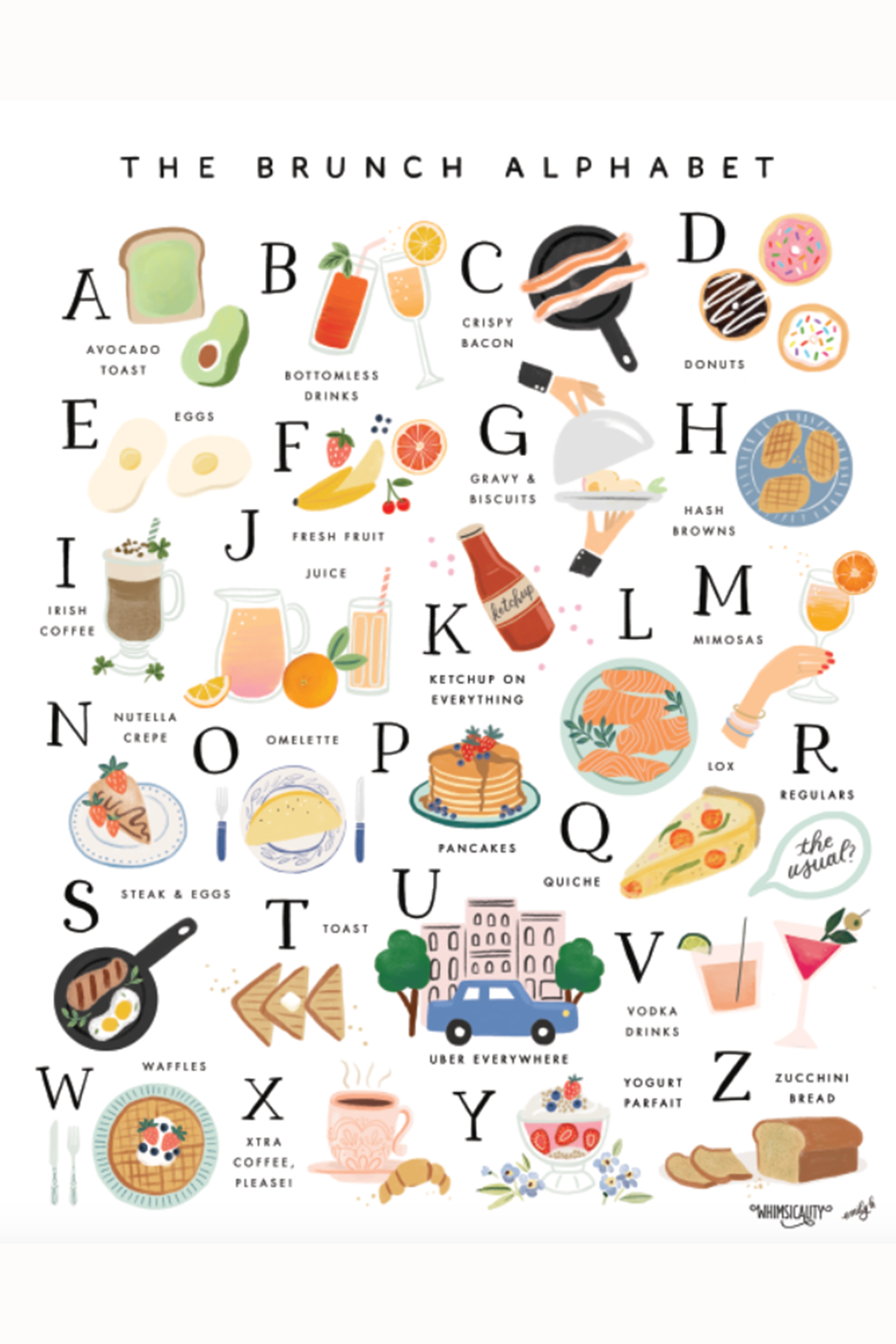 APP Print - *Whimsy Exclusive* Brunch Alphabet