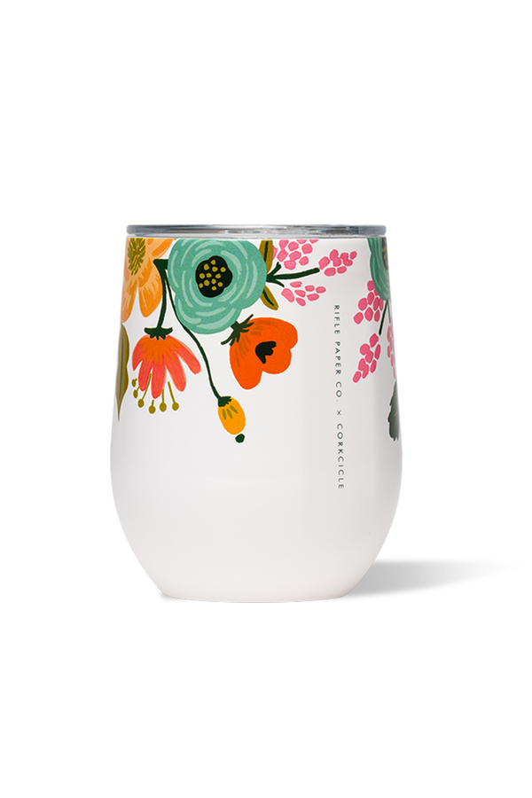 *Rifle Paper* Modern Corkcicle Stemless Wine Tumbler - Gloss Cream