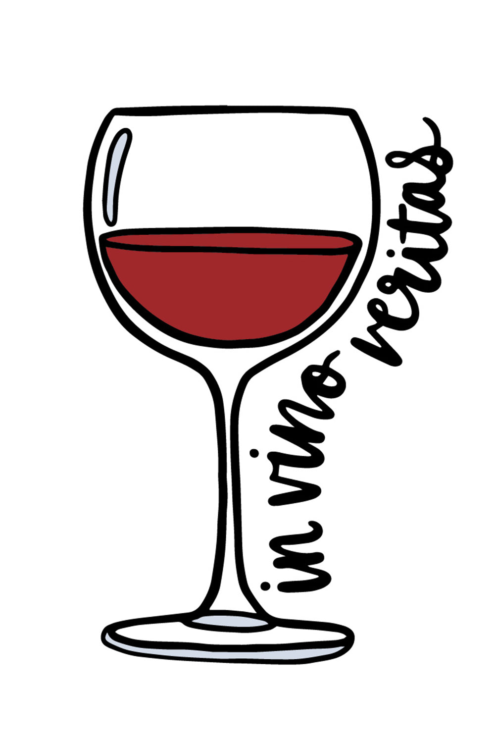 Trendy Sticker - Red Wine