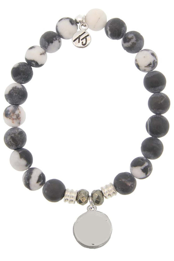 TJ Beaded Bracelet Exclusive - Zebra Quartz Stone