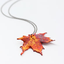 Red Maple Leaf Necklace