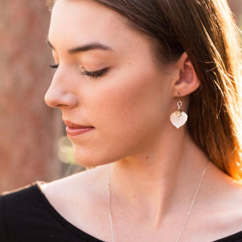 Aspen Leaf Earrings by Birch Jewellery