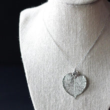Silver Aspen Leaf Necklace by Birch Jewellery