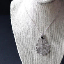 Silver Oak Leaf Necklace by Birch Jewellery