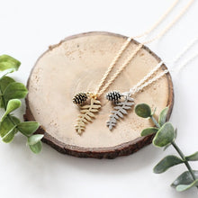 Fern Leaf & Pine Cone Necklace