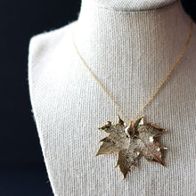 Gold Maple Leaf Necklace by Birch Jewellery
