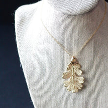 Gold Oak Leaf Necklace by Birch Jewellery