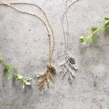 Juniper Branch & Pine Cone Necklace