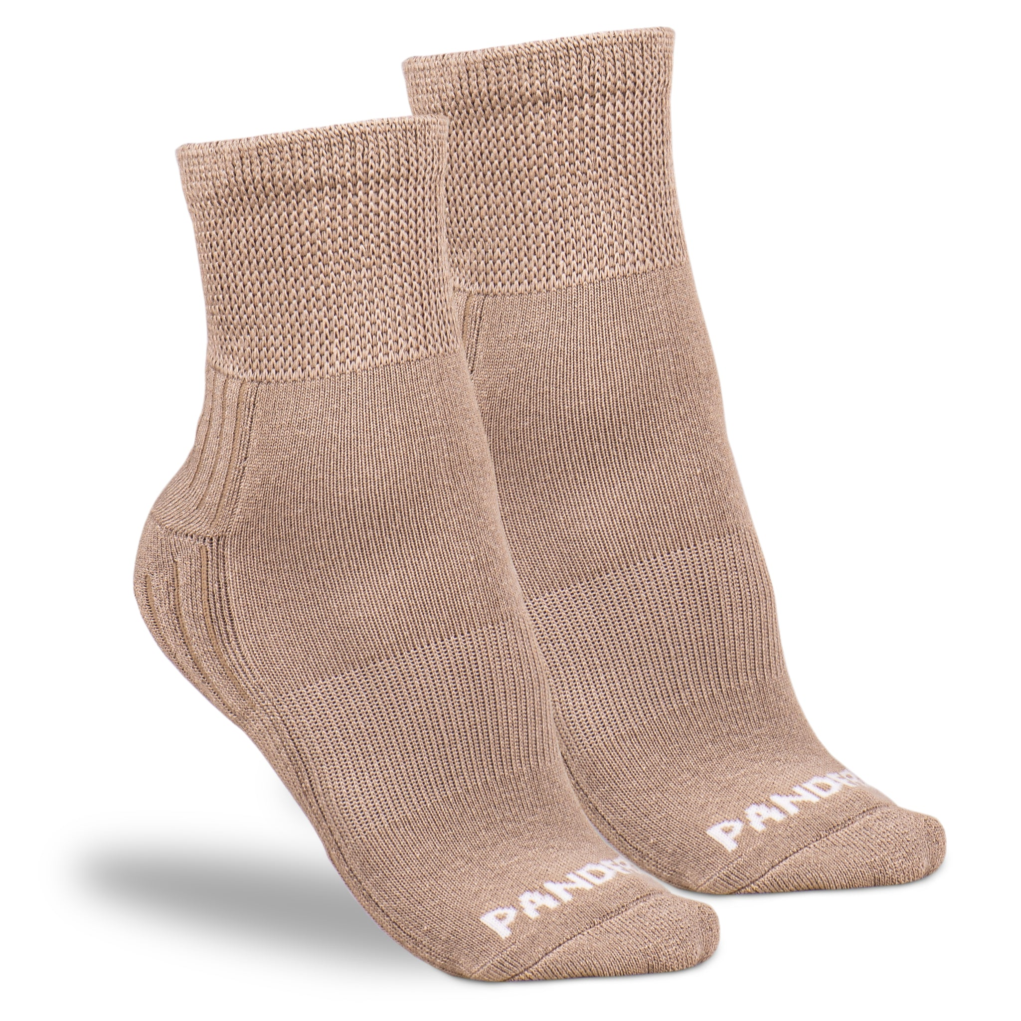 PANDERE Ankle Socks with Relaxed Fit Tops - Bundle of 3 pair