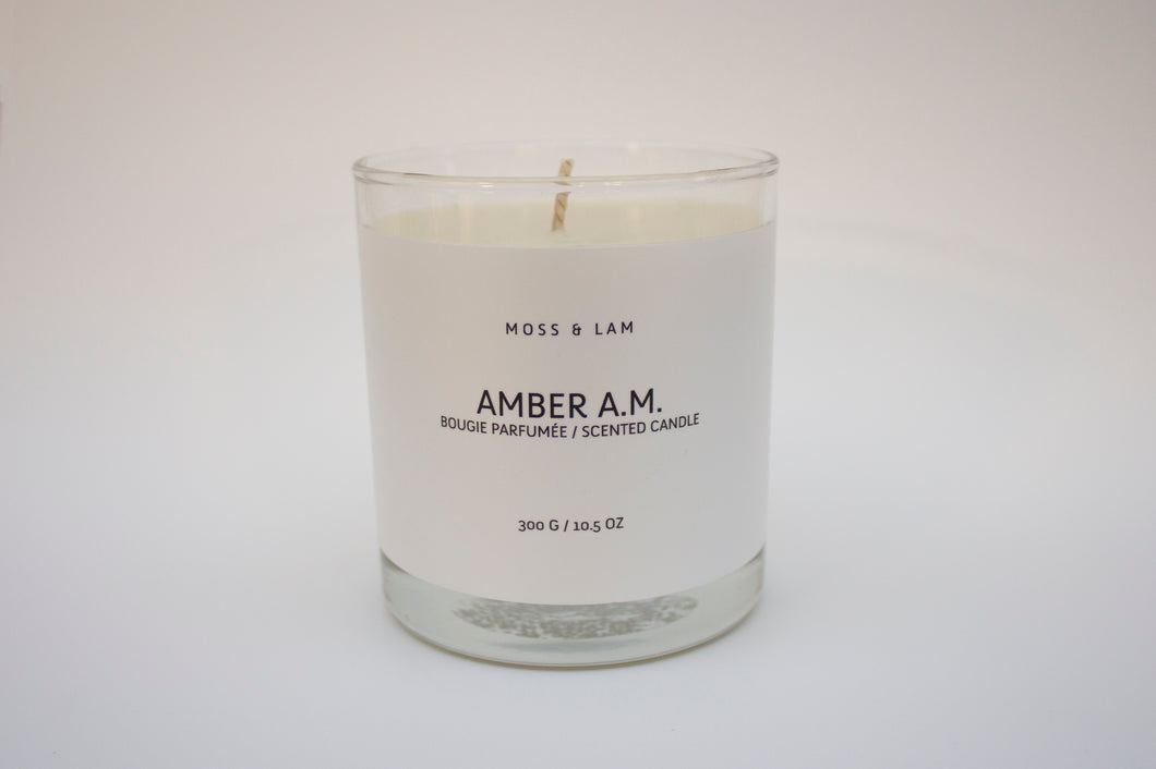 Scented Candles - Amber A.M.