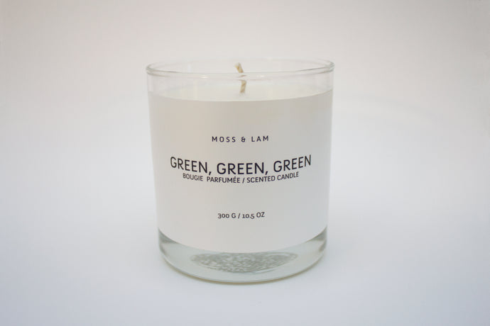 Scented Candles - Green, Green, Green
