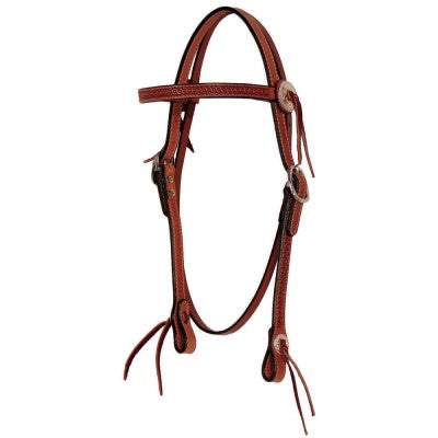 "¾"" Border Tooled Browband Headstall - Bronco Western Supply Co."