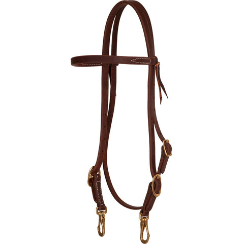 5/8″ Browband with Snap Ends Headstall - Bronco Western Supply Co.