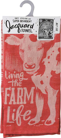 Dish Towel - Living The Farm Life - Bronco Western Supply Co.