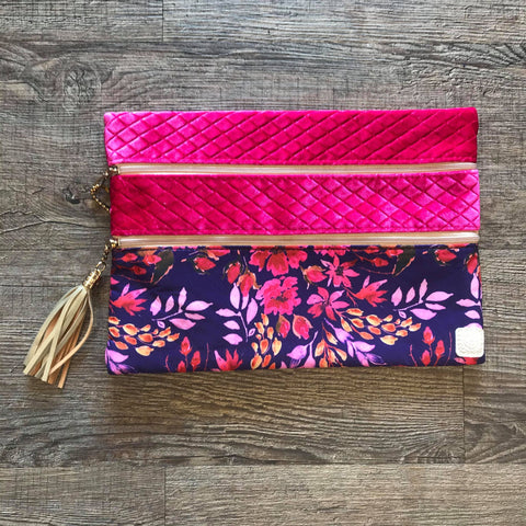 Versi Bag- Plush Petals Bright Pink Velvet - Bronco Western Supply Co.