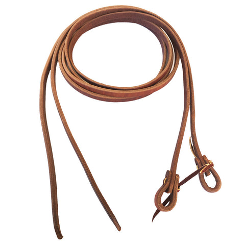 "3/4"" Harness Leather Oiled Split Rein - Bronco Western Supply Co."