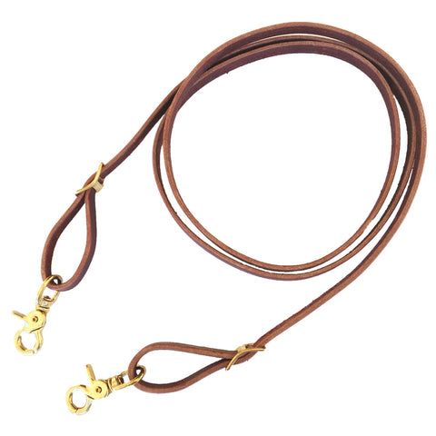 "5/8"" Latigo Roping Reins with Brass Hardware"