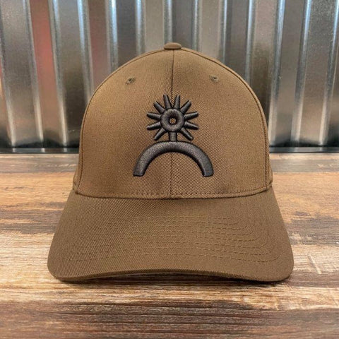 Spur Up Flex Fit Hat - Coyote - Bronco Western Supply Co.