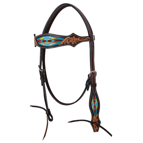 Navajo Embroidered Headstall - Bronco Western Supply Co.