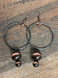 Metal Bead Hoop Earring - Bronco Western Supply Co.