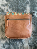 Delila 100% Genuine Leather Crossbody - Brown - Bronco Western Supply Co.