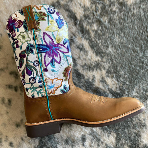"Twisted X 11"" Top Hand - Tan & Floral - Bronco Western Supply Co."
