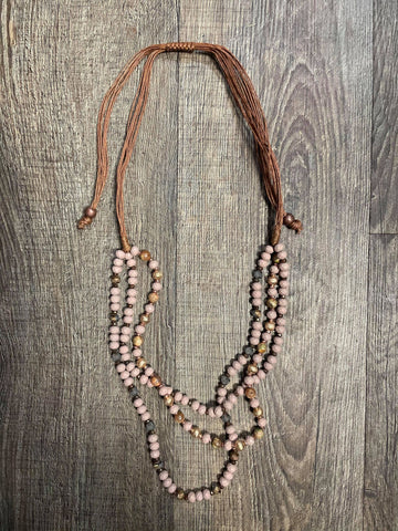 Dressed to Impress Draped Mauve Necklace - Bronco Western Supply Co.